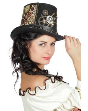 Brązowy kapelusz w stylu Steampunk dla dorosłych