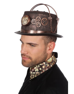 Steampunk with clock hat for adults