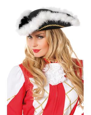 Sombrero de majorette negro para adulto