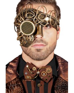Maschera di steampunk Un occhio dorata per adulto