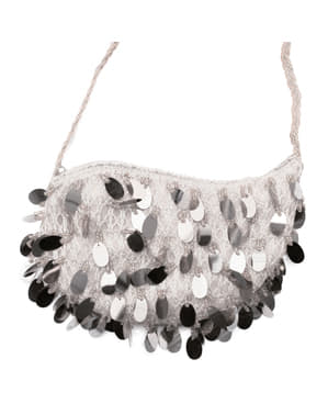 Cabaret bag with grey sequins