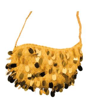 Torebka w stylu cabaret ze złotymi cekinami