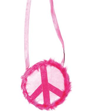 Pink Peace hippi çantası