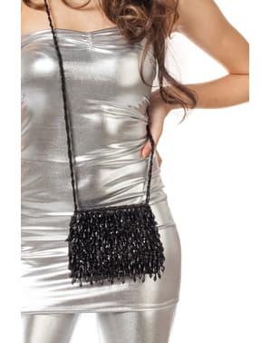 Kabaretová taška s čiernymi flitrami