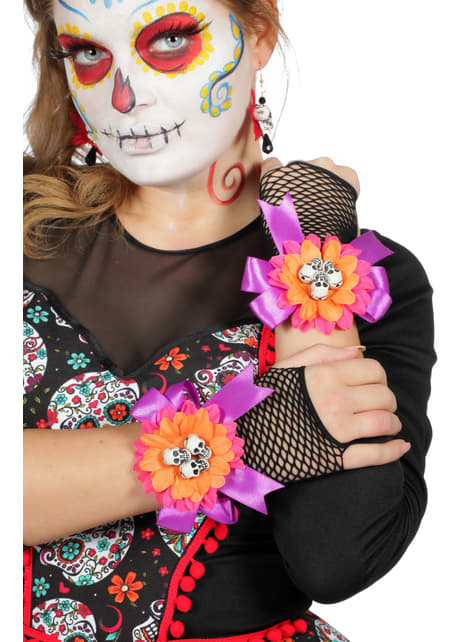 Day of the Dead gloves