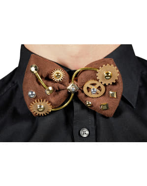 Brown Steampunk bow tie for adults