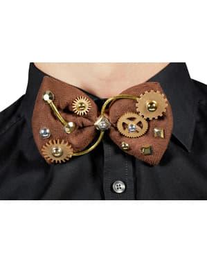 Pajarita de steampunk marrón para adulto