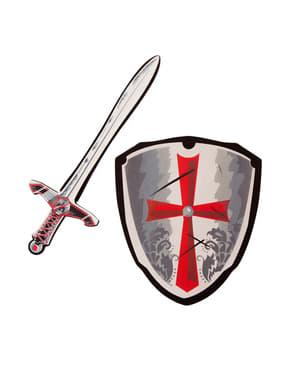 Zestaw broni Templariusza dla dzieci