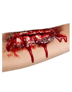 Åbent sår med dybt snit