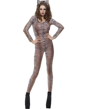 Tiger print body stocking