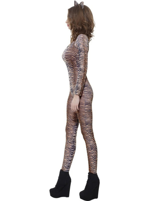 Tiger print body stocking