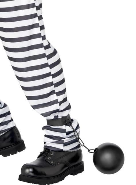 Kuge und Kette eines Gefangenen
