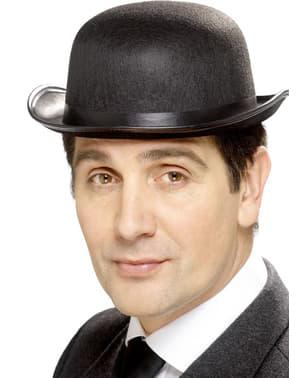 Чорний казанок капелюх