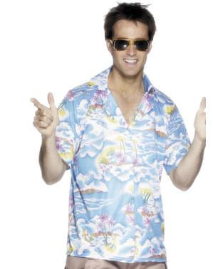 חולצת הוואי כחולה לגבר