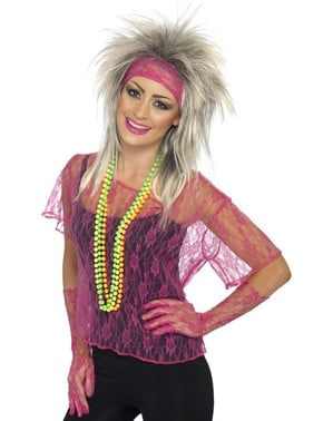 Pink neon lace 80s kit