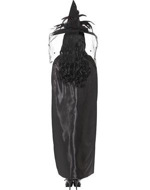 Capa negra de bruja para adulto