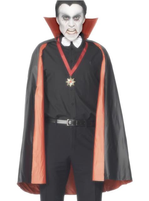 Capa de vampiro reversível preta e vermelha