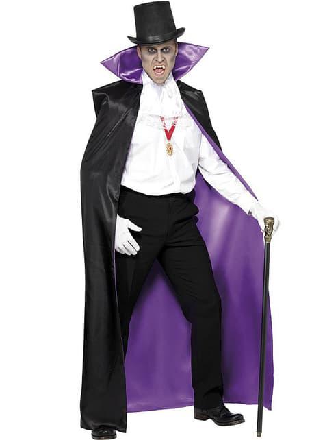 Capa de vampiro reversible negra y morada