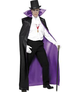Cape de vampire réversible noire et violette