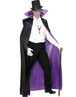 Pelerină de vampir reversibilă negru cu mov