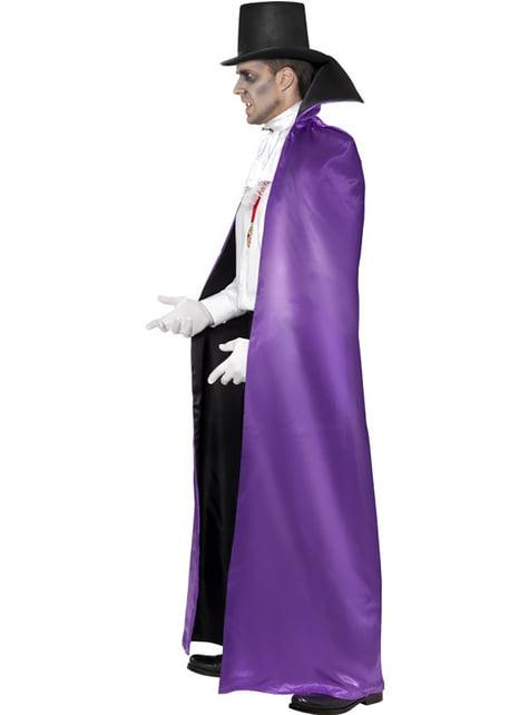 Capa de vampiro reversible negra y morada - original