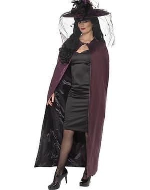 Capa de vampiro reversible negra y granate
