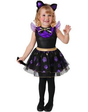 Katzen Kostüm lila für Mädchen