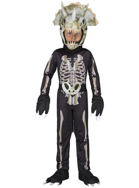 Disfraz de esqueleto de dinosaurio para niño