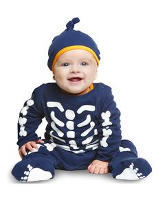 Disfraz de esqueleto pequeño para bebé
