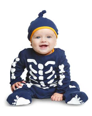 Fato de esqueleto pequeno para bebé