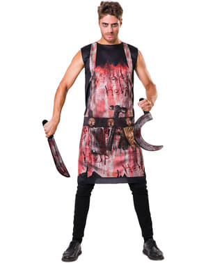 Bleeding butcher costume for adults
