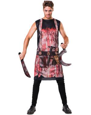 Blutiges Fleischer Kostüm für Erwachsene