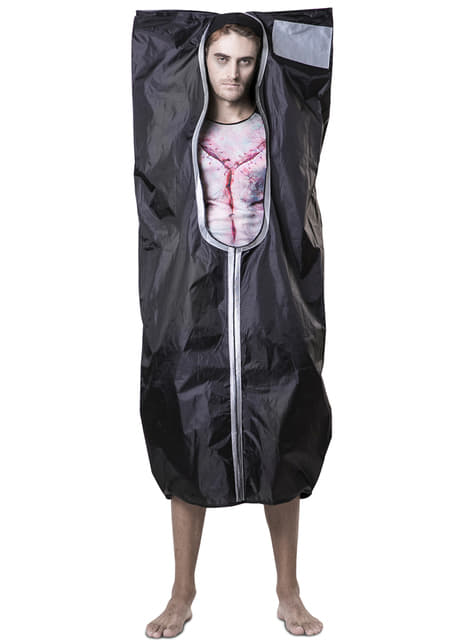 Corpse bag costume for adults