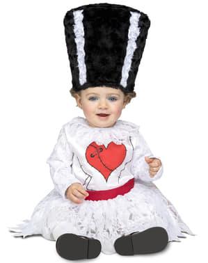 Costume da fidanzata di Frankenstein per bebè
