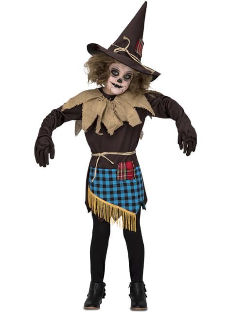 Disfraz de espantapájaros marrón para niña