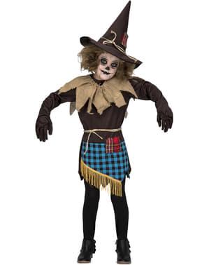 Dívčí kostým strašák hnědý
