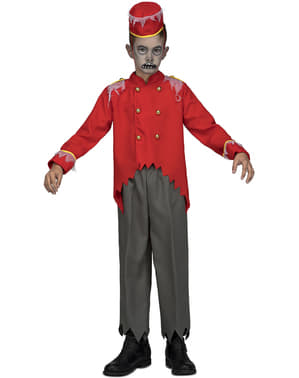 Zombie bellboy costume for boys