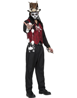 Disfraz de maestro vudú para hombre