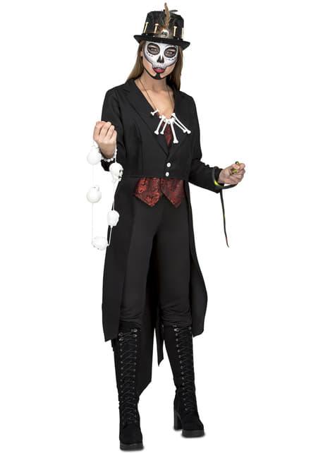 Disfraz de maestro vudú para mujer