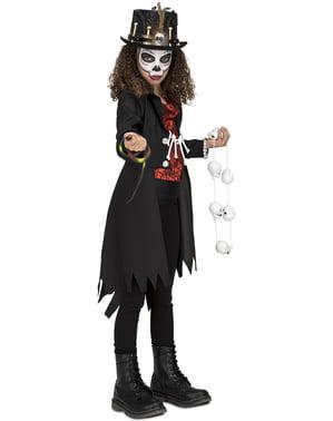 Disfraz de maestro vudú para niña