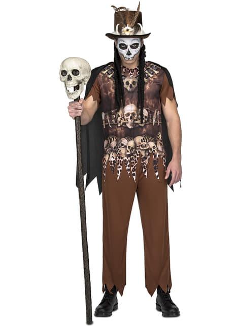Voodoo cannibal costume for men