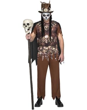 Costum de canibal voodoo canibal pentru bărbat