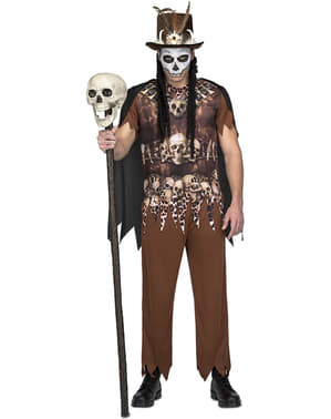 Voodoo cannibal costume for men