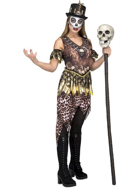 Disfraz de caníbal vudú para mujer