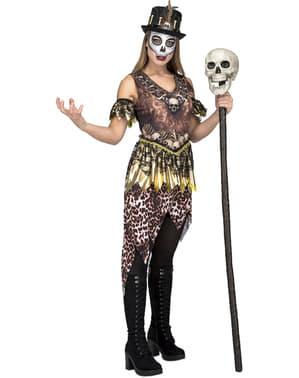 Voodoo Kostüm mit Kleid für Damen
