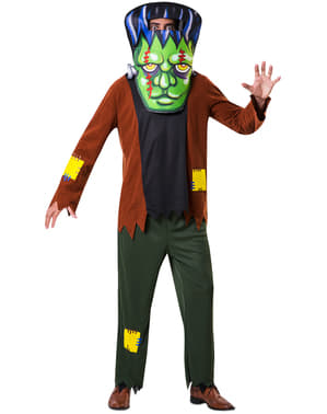 Disfraz de monstruo Frankie cabezón para adulto