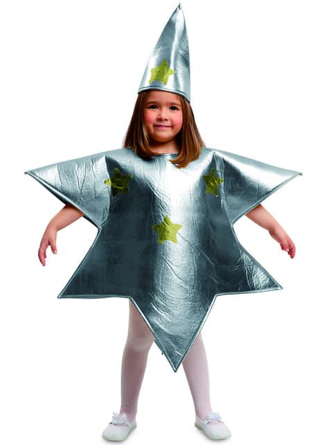 Disfraz de estrella de plata infantil
