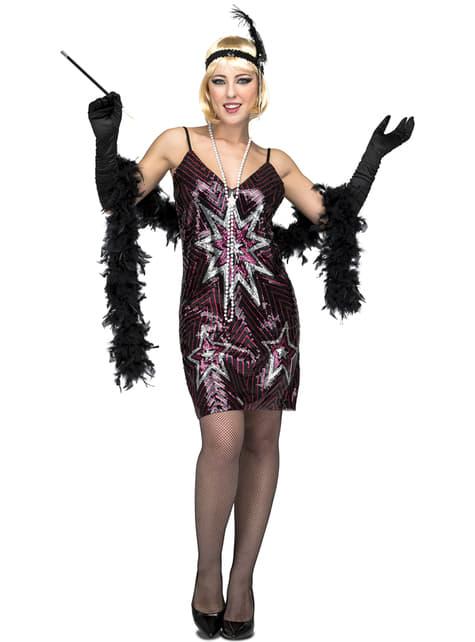 20er Jahre Kostüm mit Sternen für Damen