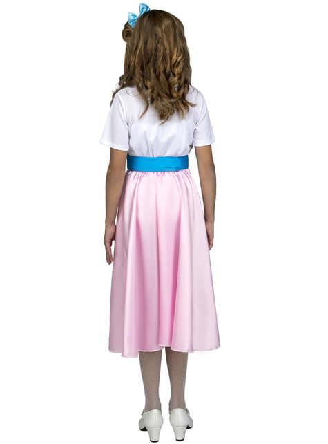 Disfraz de años 50 rosa para niña - niña
