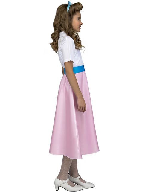 Disfraz de años 50 rosa para niña - original